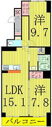 HOUSE・北柏2号棟〜ハウスキタカシワ2ゴウトウ〜[601号室]の間取り
