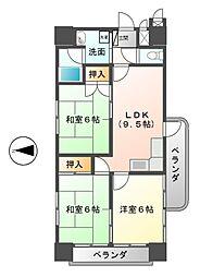 サンシャイン葵[4階]の間取り