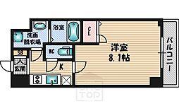 プレサンスOSAKA江坂[2階]の間取り