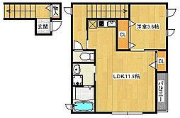 浅香様共同住宅[201号室]の間取り