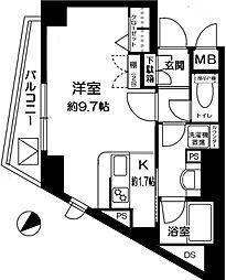 サンスタレ駒沢セカンドコート[4階]の間取り