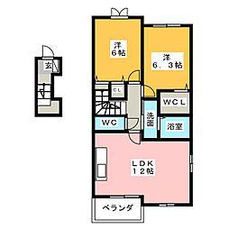 ラメールI・II[2階]の間取り