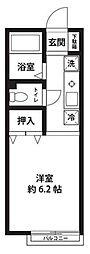 神奈川県横浜市緑区長津田みなみ台7丁目の賃貸アパートの間取り