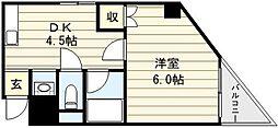 シティハイツ新今里[3階]の間取り