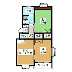 ユニオン2B[2階]の間取り