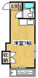 マリンハイツARAI 2[202号室]の間取り
