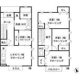 [テラスハウス] 東京都杉並区宮前4丁目 の賃貸【/】の間取り