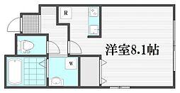 小田急小田原線 向ヶ丘遊園駅 徒歩20分の賃貸アパート 1階ワンルームの間取り