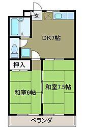 ミツコマンション[2階]の間取り
