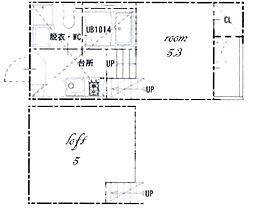 ハーモニーテラス八番II[1階]の間取り