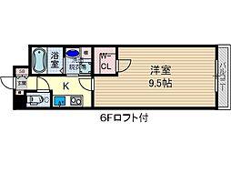 学生会館GrandEterna大阪[1階]の間取り