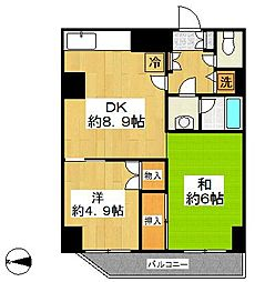 ステラレジデンス横浜[7階]の間取り