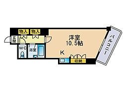 ジャパンハイツプリマベーラ六本松[4階]の間取り
