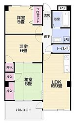 横須賀昭和ビルマンション[403号室]の間取り