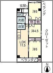 カスティージョ・ナカヌマ[4階]の間取り