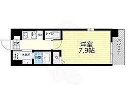 JR大阪環状線 大正駅 徒歩12分の賃貸マンション 3階1Kの間取り