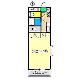 レジデンス・ユニ[2階]の間取り