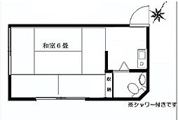 畑澤アパート[203号室]の間取り