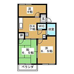 プロミネンスTAKAGI[2階]の間取り