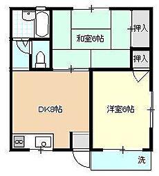 ハイツ新井[2階]の間取り
