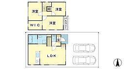 [一戸建] 兵庫県姫路市北条 の賃貸【/】の間取り