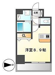 プレサンス名古屋駅前プラチナム[6階]の間取り