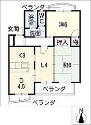 ボナール・T[4階]の間取り