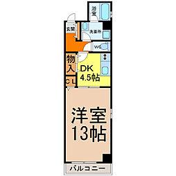 B's117(ビーズ117)[4階]の間取り