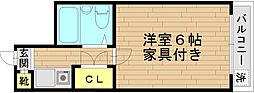 Le・Chante ル・シャンテ[202号室]の間取り