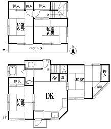 [一戸建] 神奈川県横浜市青葉区新石川4丁目 の賃貸【/】の間取り