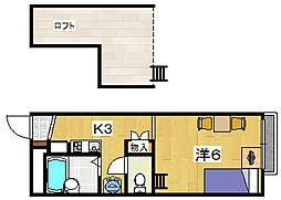 レオパレス フォーレ[2階]の間取り