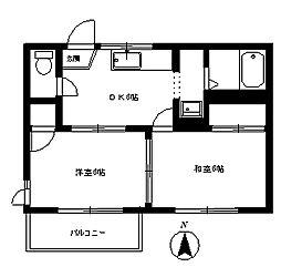 タウンハイム[1階]の間取り