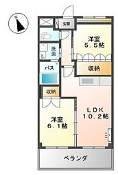 AND ONE南館[2階]の間取り