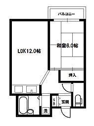 メロディハイム新大阪[3階]の間取り
