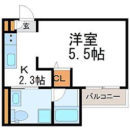 兵庫県尼崎市食満7丁目の賃貸アパートの間取り