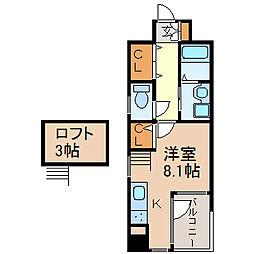 ワイズ東別院[2階]の間取り