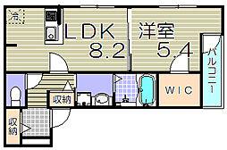 [テラスハウス] 大阪府大阪市西淀川区姫島1丁目 の賃貸【/】の間取り