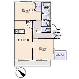 コート・イヨダ[1階]の間取り