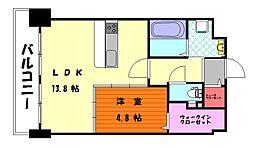 オータムレーベンII[5階]の間取り