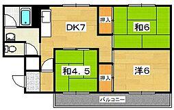 長沢ハイツ[3階]の間取り