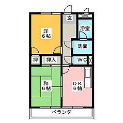 サープラスTWOスズキ[1階]の間取り