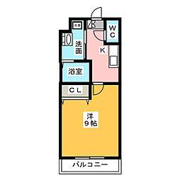 ディアコート笹塚[2階]の間取り