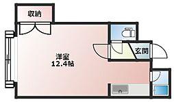 コート澄川 A棟 3階1Kの間取り