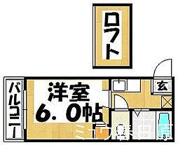福岡県春日市千歳町2丁目の賃貸アパートの間取り