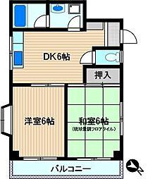 小沢ハイム[3階]の間取り