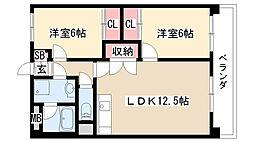 愛知県名古屋市緑区西神の倉1丁目の賃貸マンションの間取り
