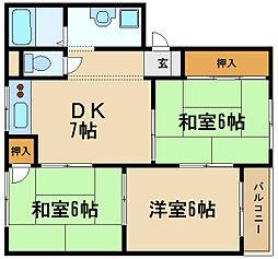 兵庫県伊丹市昆陽南1丁目の賃貸マンションの間取り