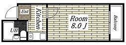 メゾンK[5A号室]の間取り