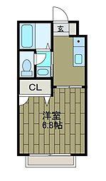 ハイツAKI[2階]の間取り