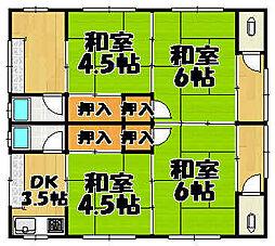 [一戸建] 兵庫県川西市下加茂1丁目 の賃貸【兵庫県/川西市】の間取り